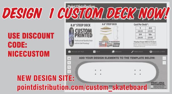 1 custom skateboard printing