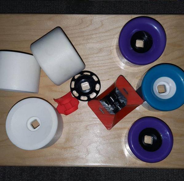 3D-Printed-Samples custom molded skateboard wheels