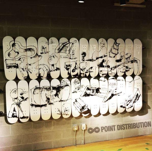 Nike Skateboard Mural