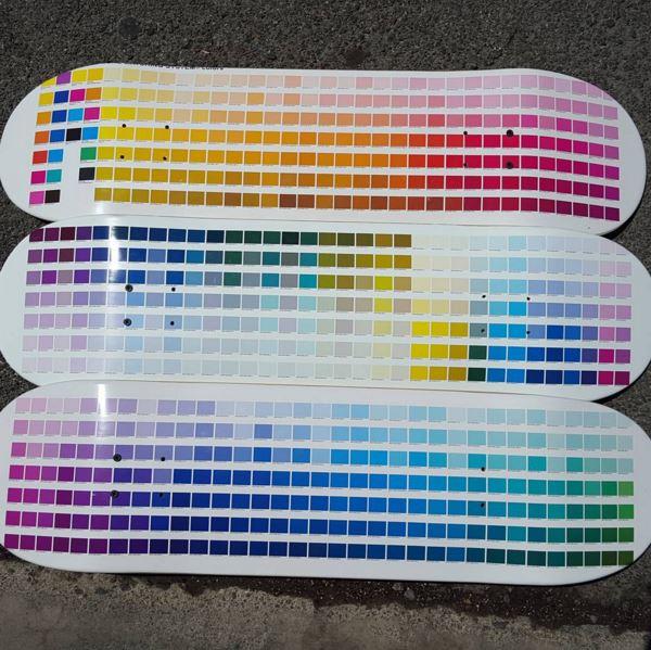 Pantone-Colors for skateboard printing
