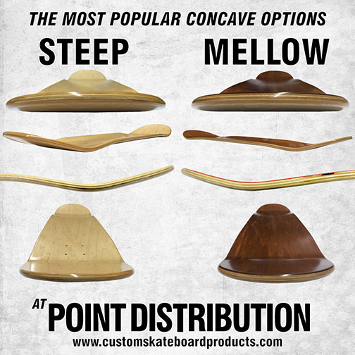 two most popular custom_skateboard_concaves