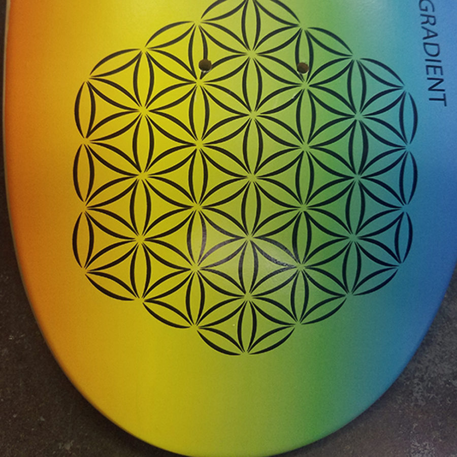 gradient in skateboard printing