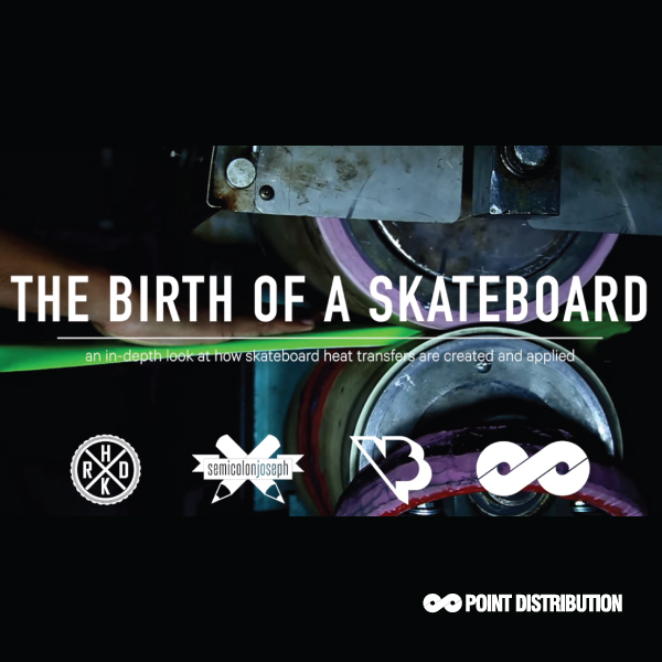 instagram vidoe showing skateboard printing from the start